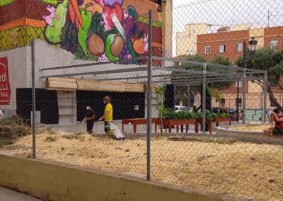 Construcción de un huerto urbano comunitario